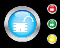 Security icons. Security glass button icons. Please check out my icons gallery Stock Image