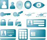 Security icons Stock Photos