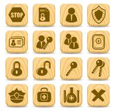 Security icons Stock Photography