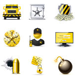 Security icons | Bella series. Bank security icons. Bella series Royalty Free Stock Photography