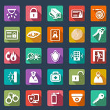Security icons-  flat design Royalty Free Stock Photo