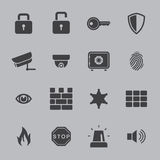 Security icons. Isolated over white background. vector gray Stock Photos