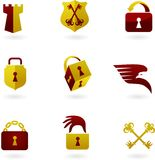 Security icons and logos. Collection of security icons and logos Royalty Free Stock Images