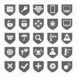 Security, icons, monochrome, gray, vector. Royalty Free Stock Photos