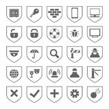 Security, icons, monochrome, vector. Stock Image