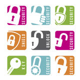Security icons Royalty Free Stock Photography