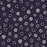 Security icons seamless pattern. Stock Photography