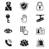 Security icons Stock Image