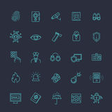 Security icons set Stock Photography