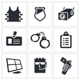 Security Icons set Royalty Free Stock Photography