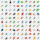 100 security icons set, isometric 3d style. 100 security icons set in isometric 3d style for any design vector illustration Royalty Free Stock Photos