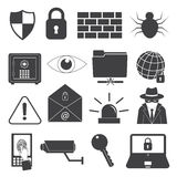 Security Icons Set. Technology secure icons set for using in your work Stock Image