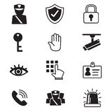 Security icons set. Vector illustration graphic design stock illustration