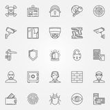 Security icons set Stock Images