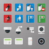 Security icons set 3 Royalty Free Stock Photos