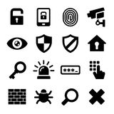 Security Icons Set Royalty Free Stock Image