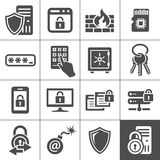 IT Security icons. Simplus series Stock Images
