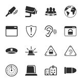 Security 16 icons universal set for web and mobile. Flat stock illustration