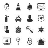Security 16 icons universal set for web and mobile Stock Images