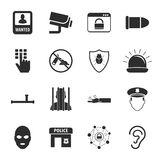 Security 16 icons universal set for web and mobile. Flat Royalty Free Illustration