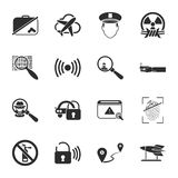 Security 16 icons universal set for web and mobile Royalty Free Stock Images