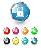 Security icons vector set Royalty Free Stock Images