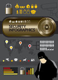 Security infographic  Royalty Free Stock Image