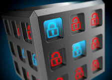 Security of information systems background Royalty Free Stock Photography