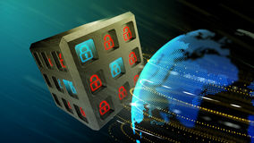 Security of information systems background Royalty Free Stock Images