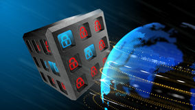 Security of information systems background Royalty Free Stock Image