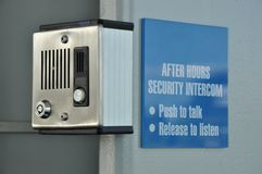 Security intercom Stock Photos