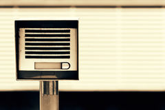 Security intercom on entrance Royalty Free Stock Photography