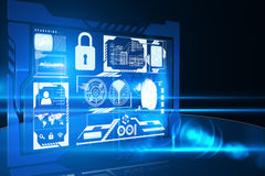 Security interface Royalty Free Stock Image
