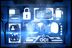 Security interface Stock Images