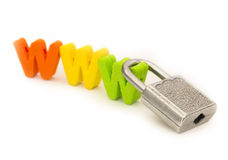 Security on internet Stock Image