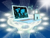 Security Internet concept Stock Images
