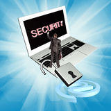Security internet connection technologies Stock Image