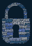 Security internet text concept Stock Photos