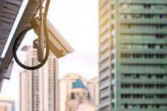 Security IR camera for monitor events in city Royalty Free Stock Photo