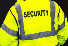 Security jacket closeup Royalty Free Stock Photos