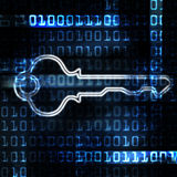 Security key and binary code Royalty Free Stock Images