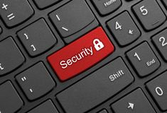 Free Security Key On Keyboard Royalty Free Stock Photography - 159434347