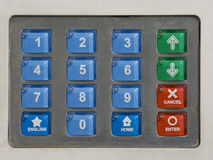 Security Keypad. Keypad with numbers 0-9. Keypads can be used for numerous things like entering a pincode, gaining access to something or opening something royalty free stock photo