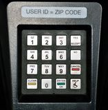 Security keypad Royalty Free Stock Photos