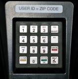 Security keypad. Security pin keypad on fuel pump Royalty Free Stock Photos