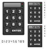 Security keypad control panel Stock Photo