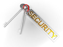 Security Keys Shows Protect Locked And Safe Royalty Free Stock Photography