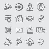 Security line icon Stock Photos