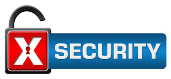 Security Lock Red Blue Horizontal Royalty Free Stock Photos