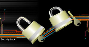 Security lock vector Royalty Free Stock Photo